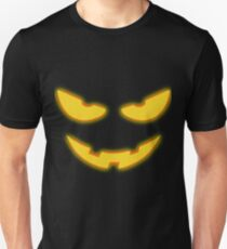 Kids Yellow Scary Face Halloween T-Shirt for Boys and Girls Unisex T-Shirt