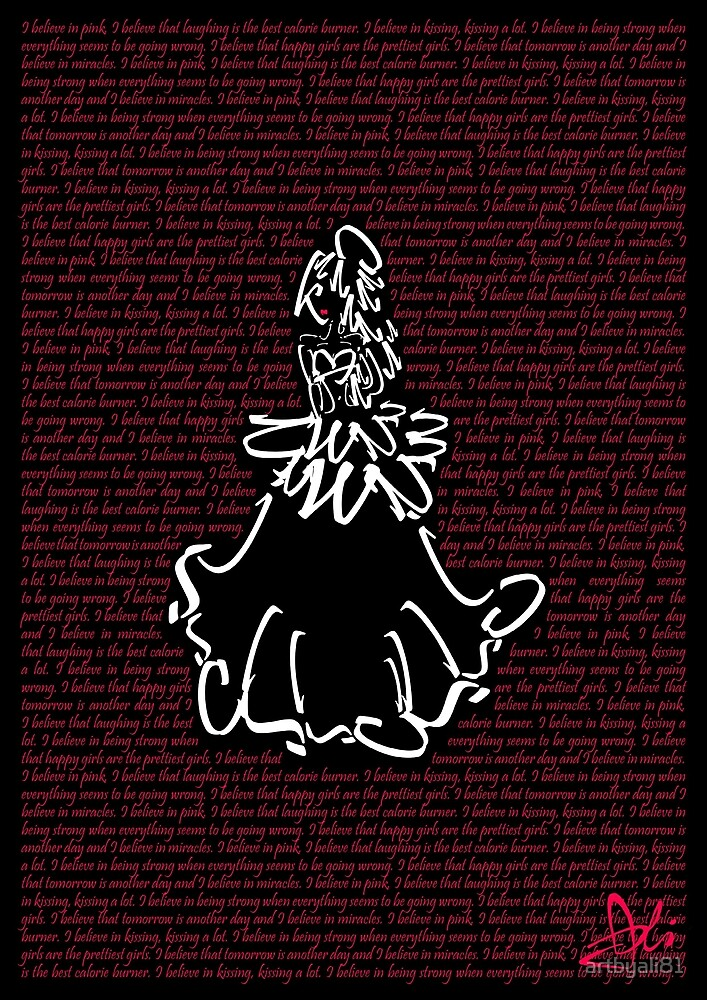 A GIRL'S BELIEF - Black by artbyali81