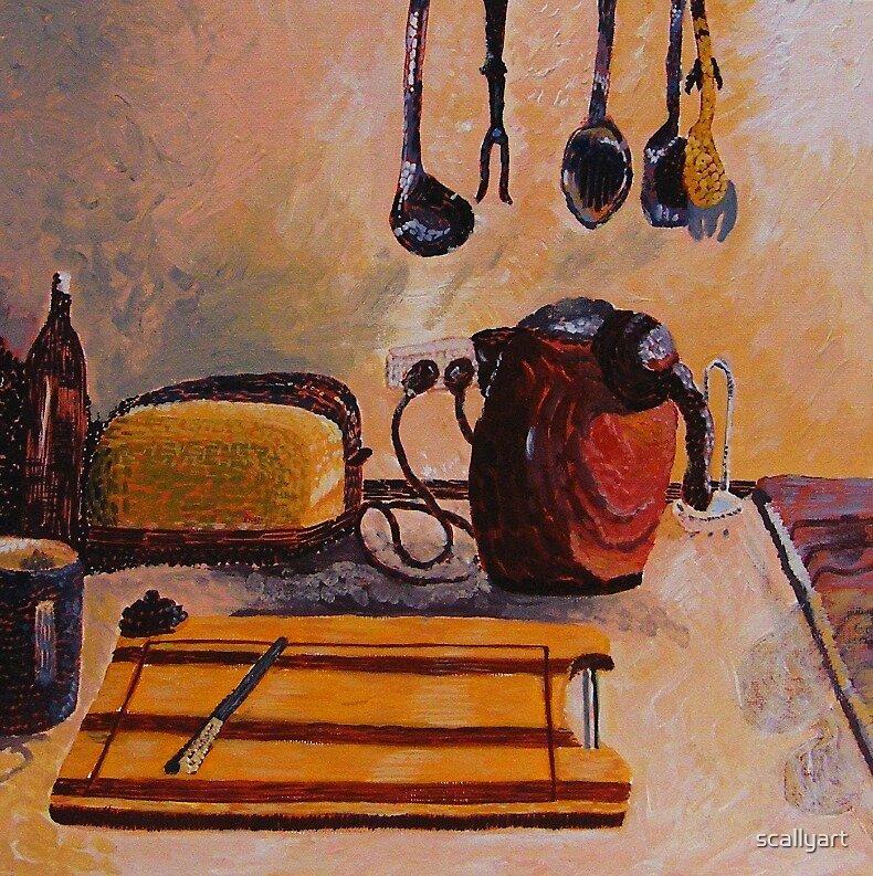 Tea and Toast - Artists Kitchen by scallyart