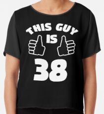 Mens This Guy Is 38 Years Old T Shirt 38th Birthday Gift For Boys Chiffon
