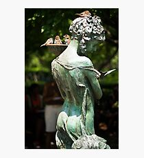 Birds at Burnett Fountain Photographic Print