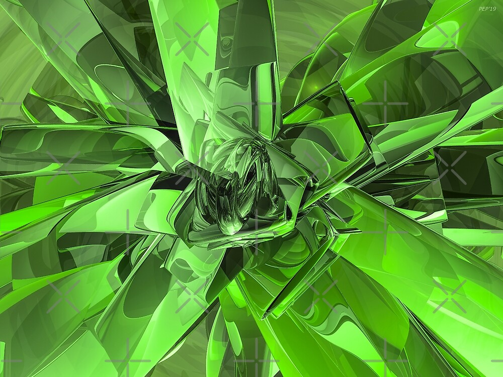 Green Abstract by Phil Perkins