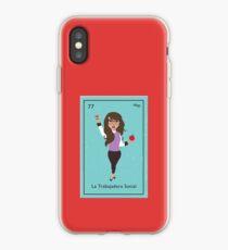 La Trabajadora Social Brunette iPhone-Hülle & Cover