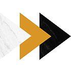 Forward arrows marble mustard collage by by-jwp