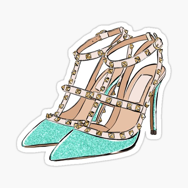turquoise shoes Sticker
