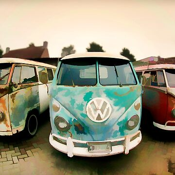 Old Surfer Van Resting Place by marlenewatson