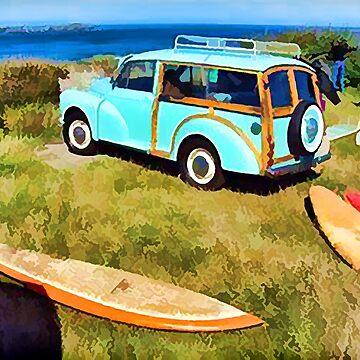 Vintage Surfer Van - Circa 1950's by marlenewatson