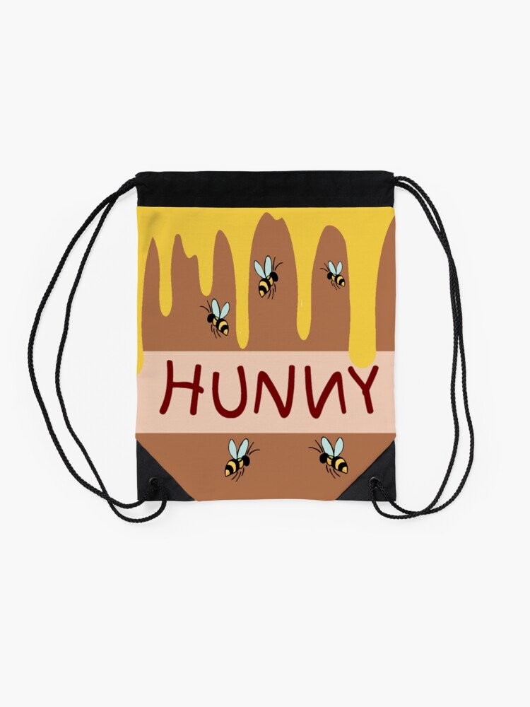 Alternate view of The Hunny Pot Drawstring Bag