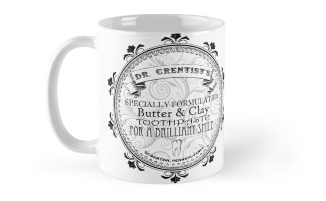 Dr. Crentis MUGS with wraparound design by pickledbeets