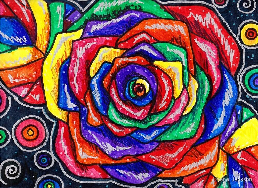 Rainbows and Roses Bold by Shana Rowe Jackson