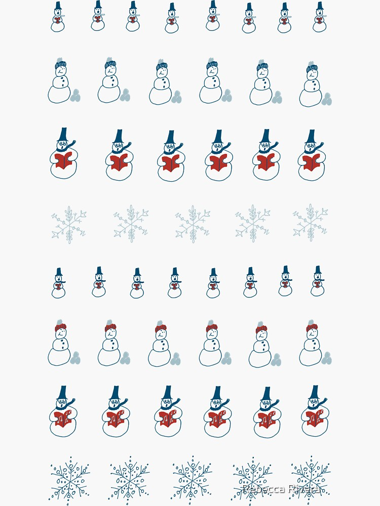 Cute Snowmen and Snowflakes by BookTalkBecky