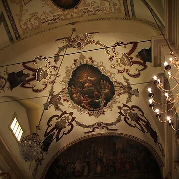 St. Louis Cathedral Vaulted Ceiling by DebiDalio