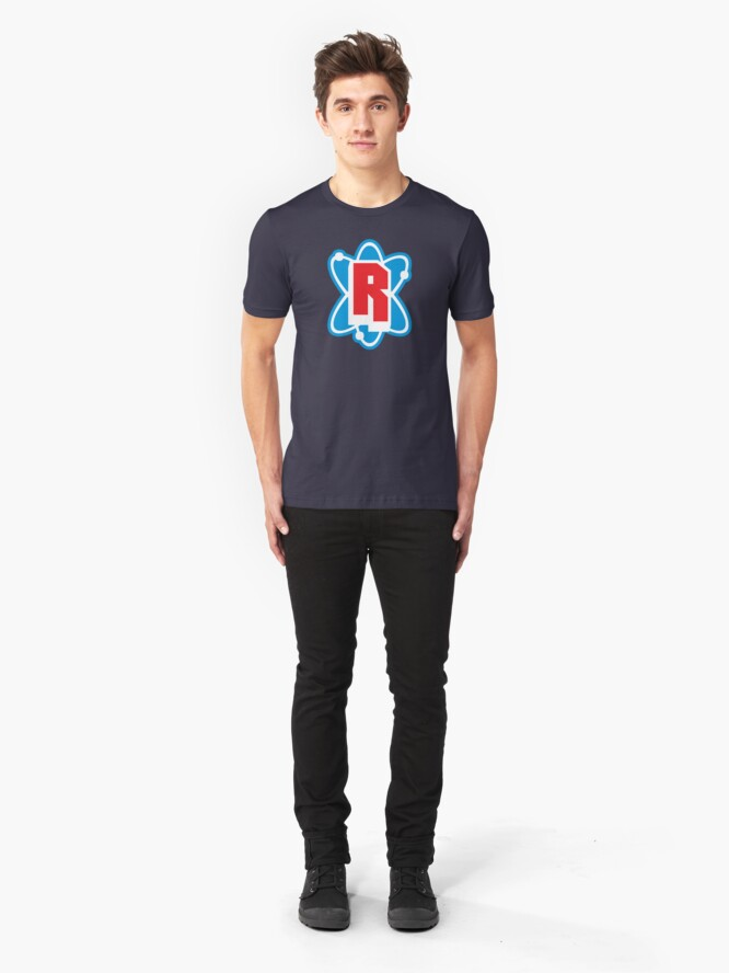 Alternate view of Radioactive Superhero Letter R Slim Fit T-Shirt