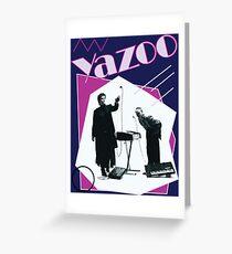 Yazoo 80er Jahre Band Retro Pop 80er Jahre New Wave Synth Alison Moyet Grußkarte