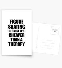 Figure Skating Cheaper Than a Therapy Funny Hobby Gift Idea Postkarten