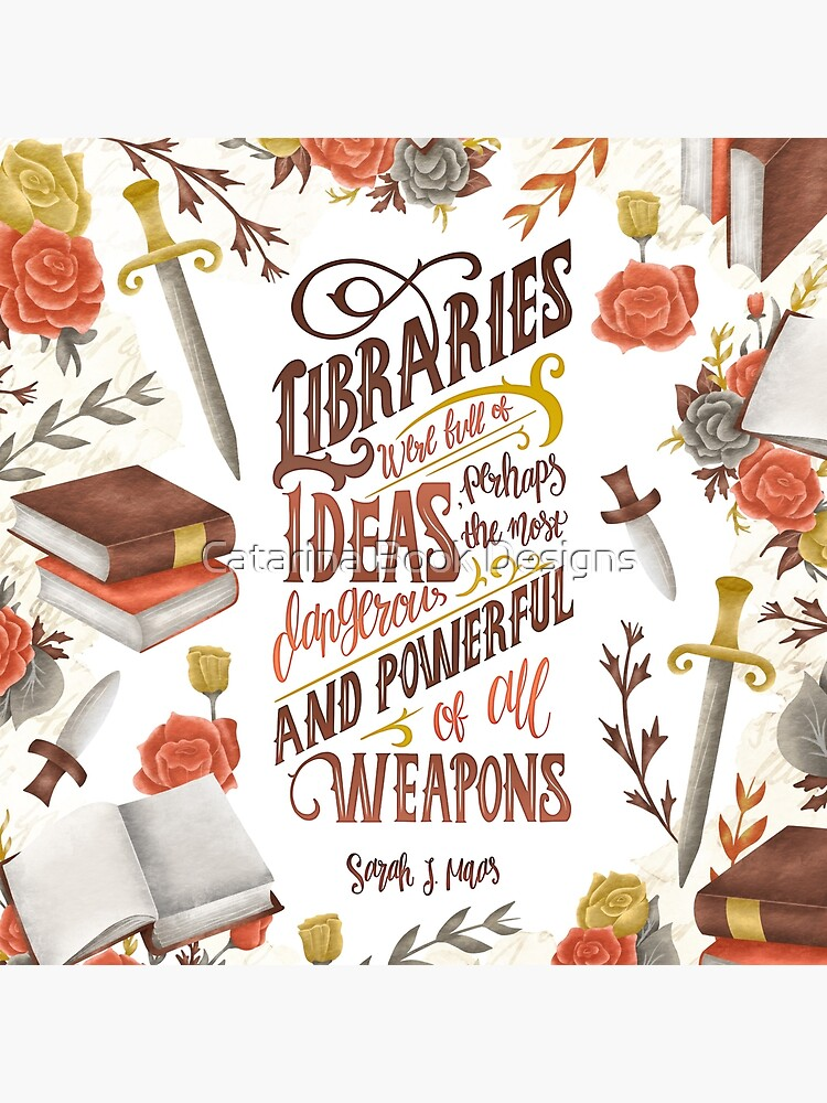 LIBRARIES WERE FULL OF IDEAS by catarinadesigns