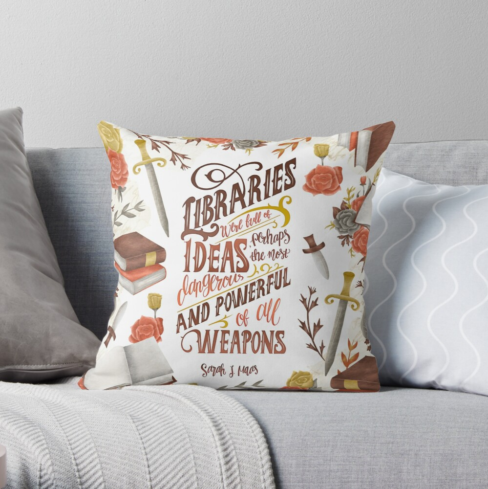 LIBRARIES WERE FULL OF IDEAS Throw Pillow