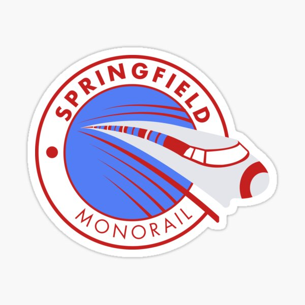 Monorail de Springfield Sticker