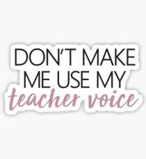 Teacher Voice Sticker