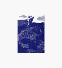 The Blue Shimmering Sea Lights Art Board