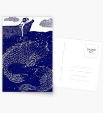 Die blau schimmernden Seelichter Postkarten