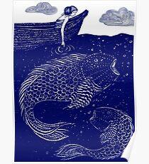 Die blau schimmernden Seelichter Poster