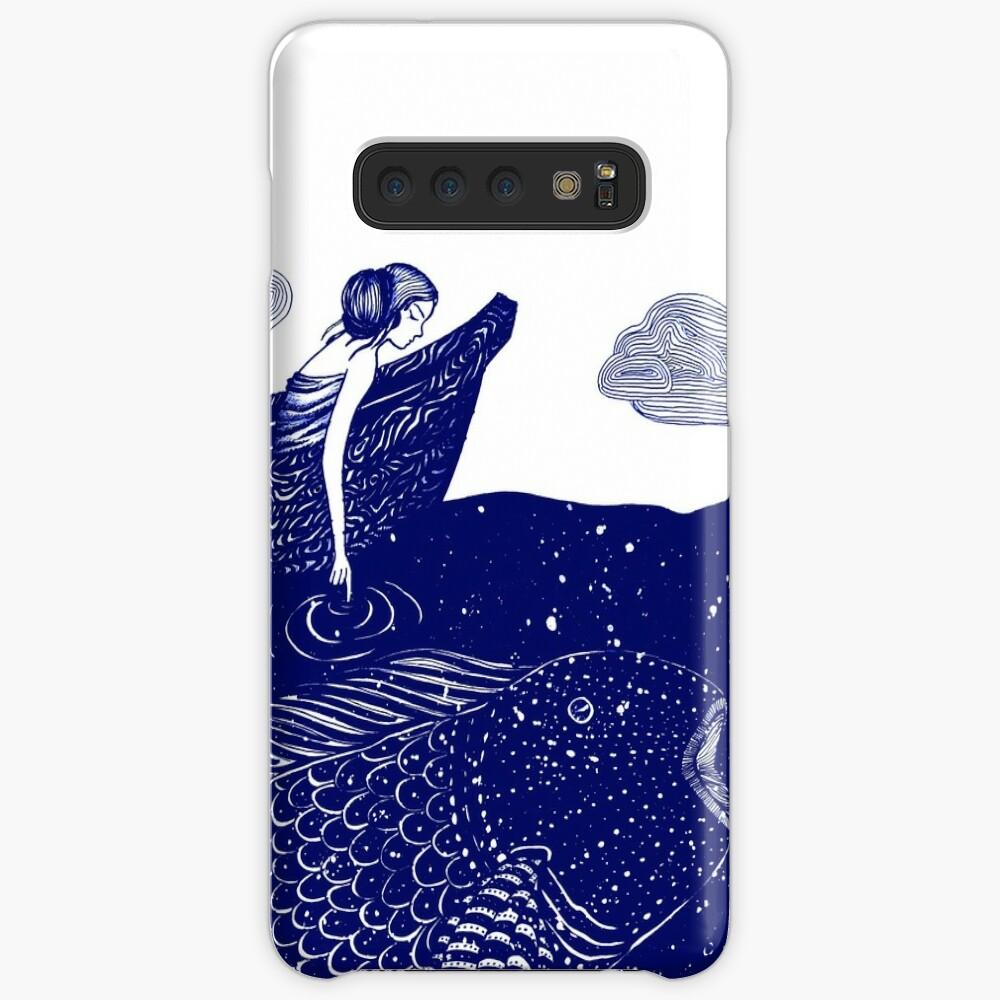 Die blau schimmernden Seelichter Hülle & Klebefolie für Samsung Galaxy