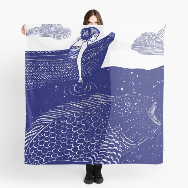 The Blue Shimmering Sea Lights Scarf