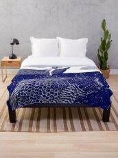 The Blue Shimmering Sea Lights Throw Blanket