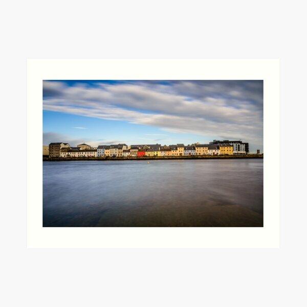 Galway Bay Ireland - Galway City Idyllic Houses Art Print