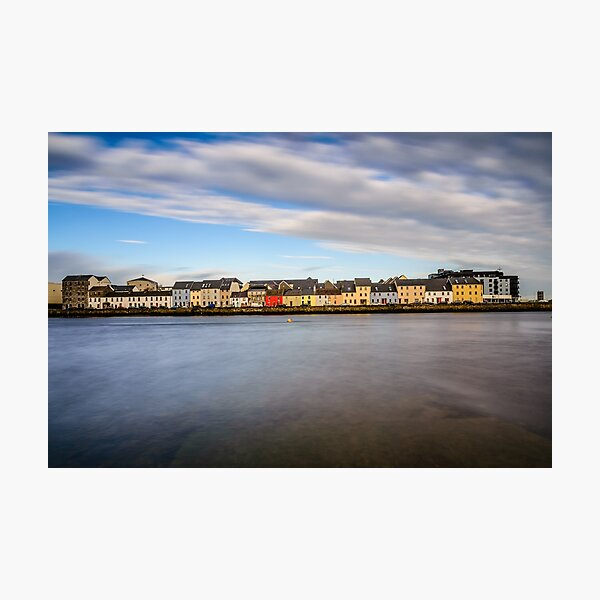 Galway Bay Ireland - Galway City Idyllic Houses Photographic Print