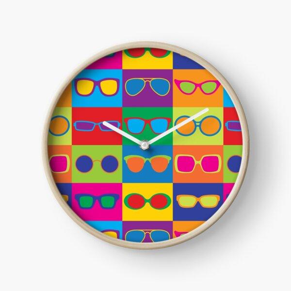 Pop Art Eyeglasses Clock