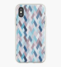 Mauve Blue Geometry VI (small) iPhone Case