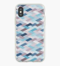 Mauve Blue Geometry VIB (small) iPhone Case