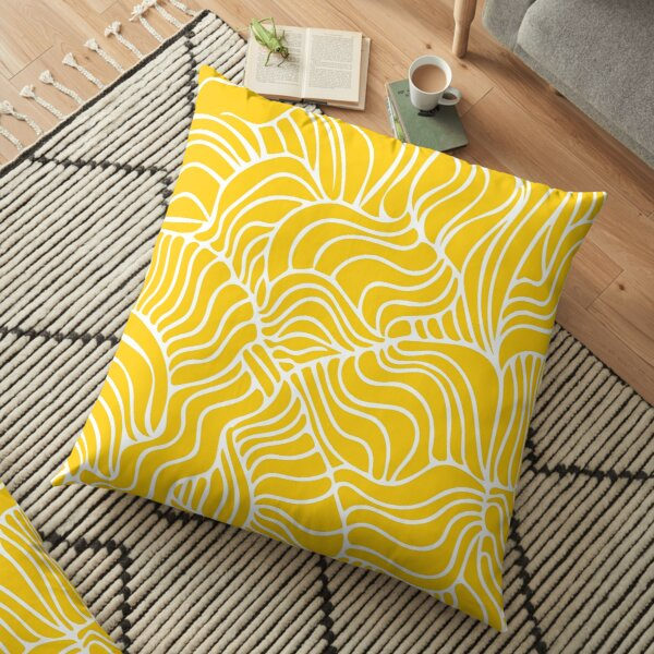 Yellow Mellow Tropical Floor Pillow