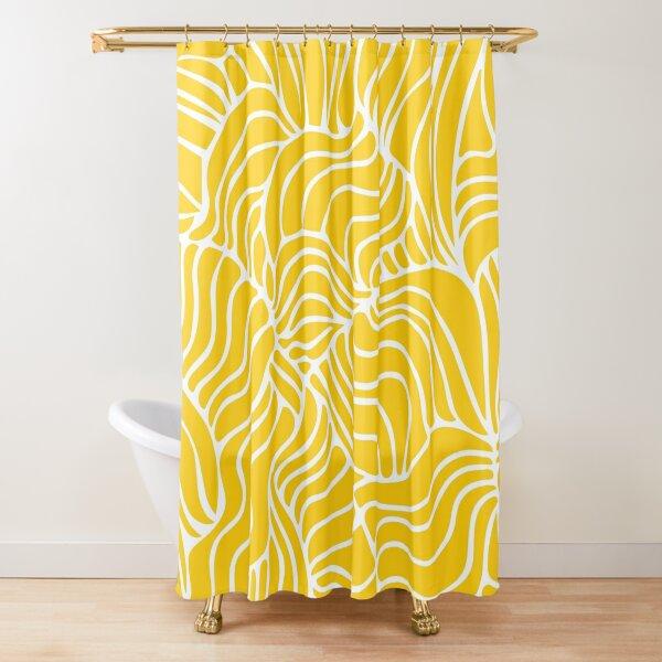 Yellow Mellow Tropical Shower Curtain