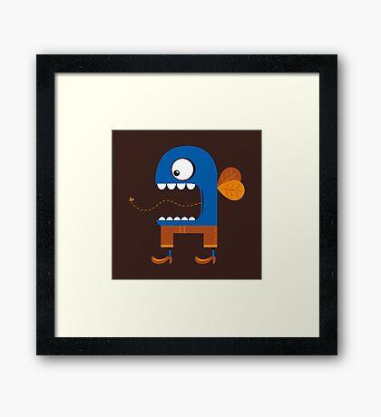 Blue Fly Snack Framed Print