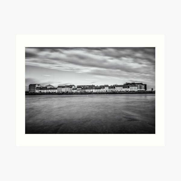 Galway Bay Ireland Black and White Photography Art Print