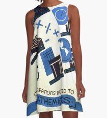 Math Occupations Premium Tee A-Line Dress