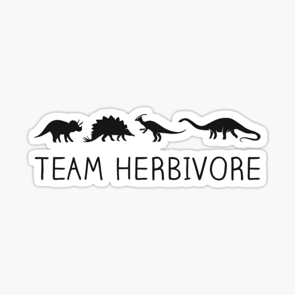 Team Herbivore Cute and Funny Dinosaur for Vegan Sticker