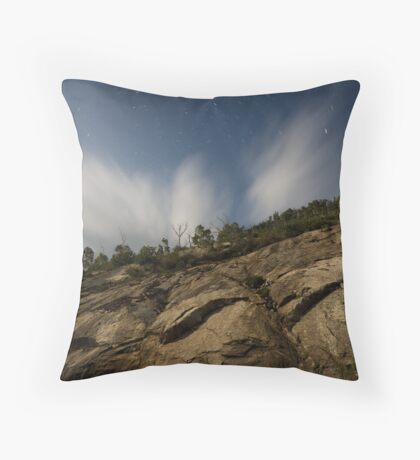 Looking up The Granite Plateau Mount Buffalo  Throw Pillow