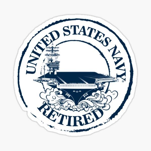 US Navy Retired Sticker