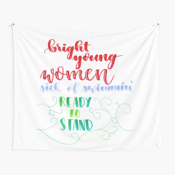 Bright Young Women Tapestry