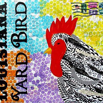Louisiana Yard Bird by KaylaMillerArt