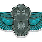 Scarab with blue wings. by Elsbet