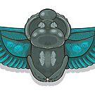 Skarabäus mit blauen Flügeln. von Elsbet
