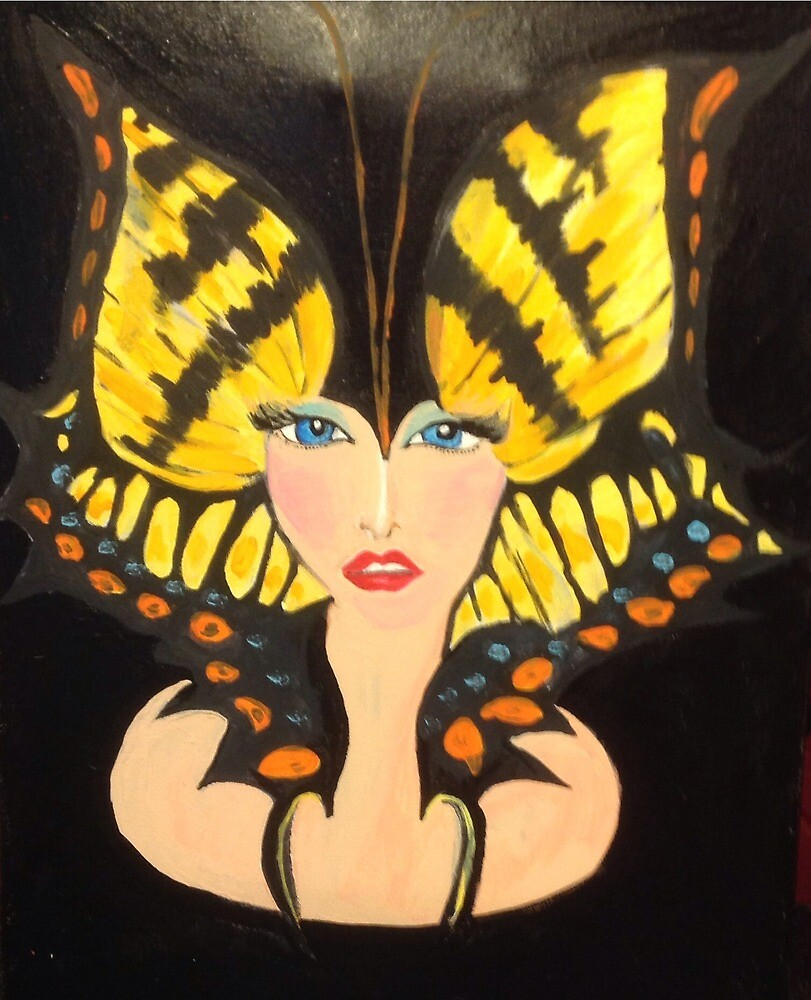 Butterfly Girl Take Me Away!  by Heatherputer