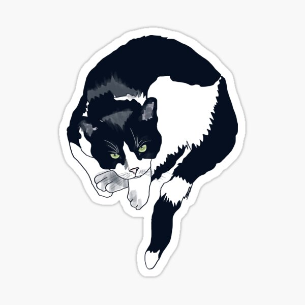 Chat tuxedo Sticker