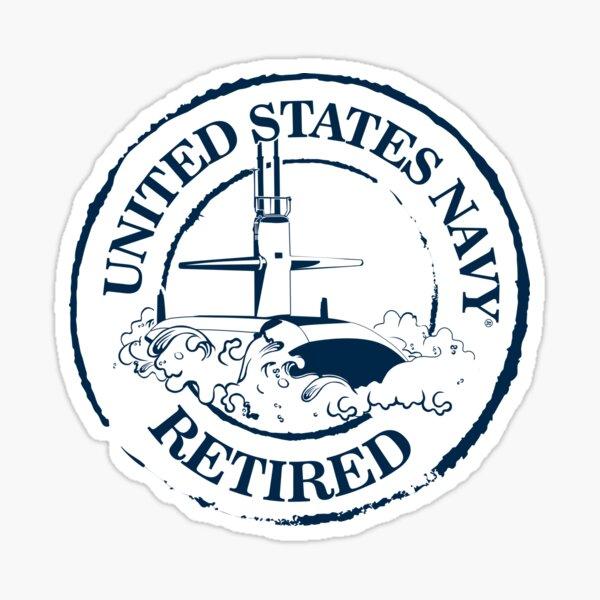 US Navy Retired (submarine) Sticker