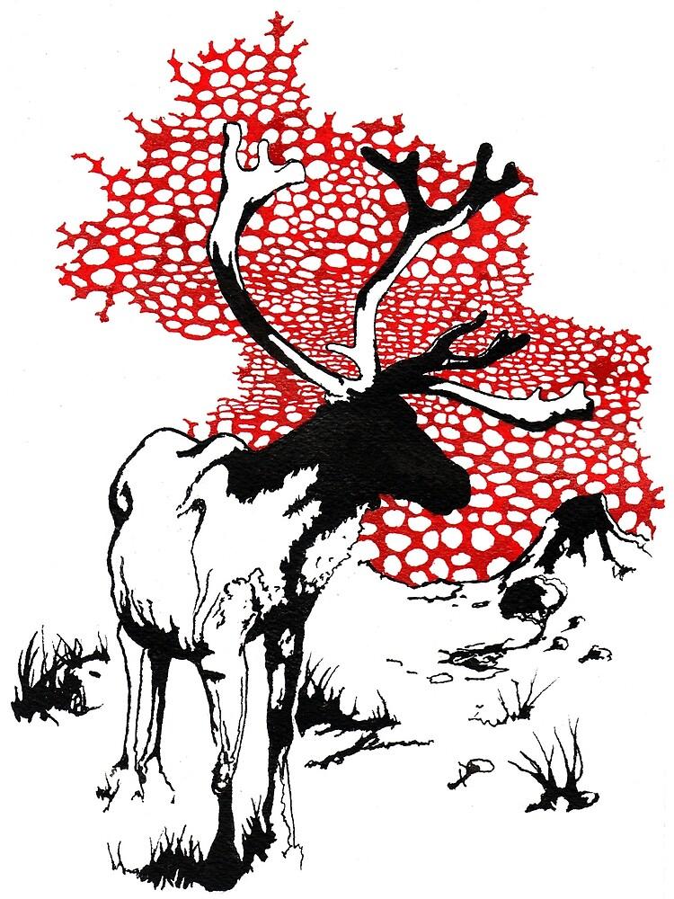 Reindeer drawing by scott myst